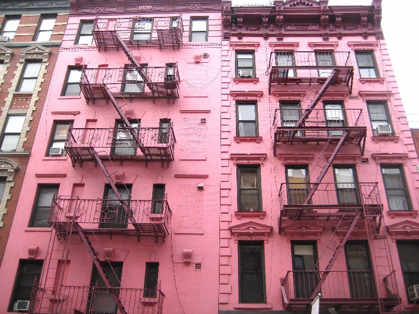 The Pink Building apartment stories