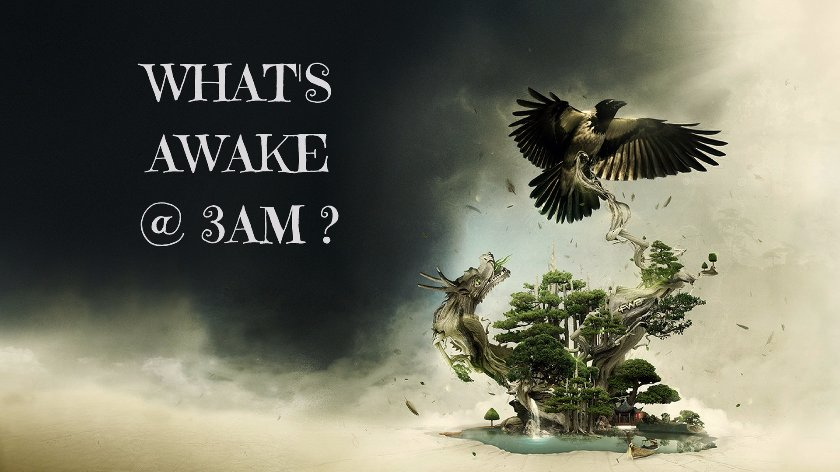 What's awake @ 3am ? truestory stories